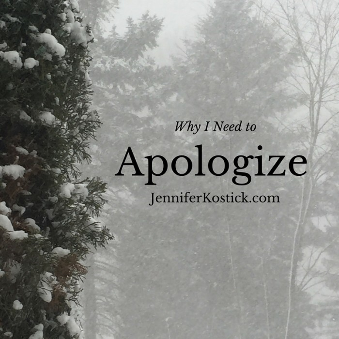 Why I Need to Apologize